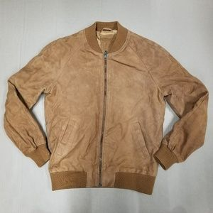 ASOS Suede Bomber Jacket Tan Men's Size XS